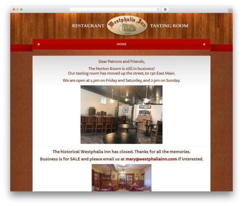 WP template Bordeaux Premium Theme - westphaliainn.com