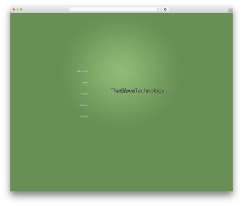 BusinessCard company WordPress theme - theglovetechnology.com