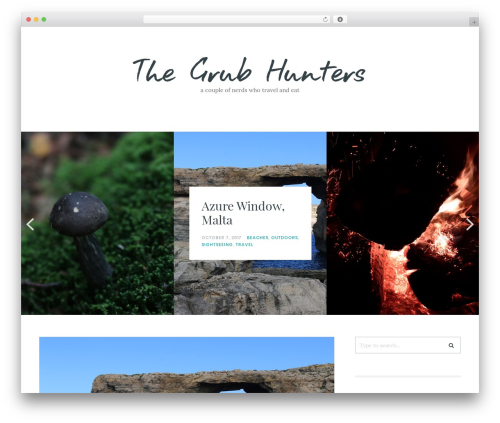 Carbis WordPress page template - thegrubhunters.com