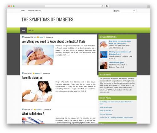 EducationBlog WordPress theme design - thesymptomsofdiabetes.net