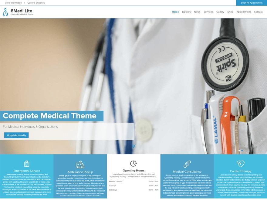 EightMedi Pro WordPress template for business