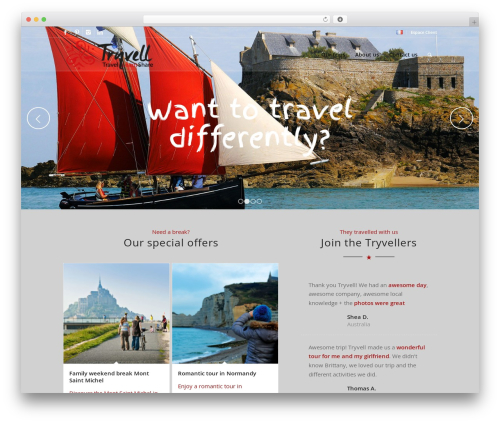 Enfold WordPress travel theme - tryvell.com