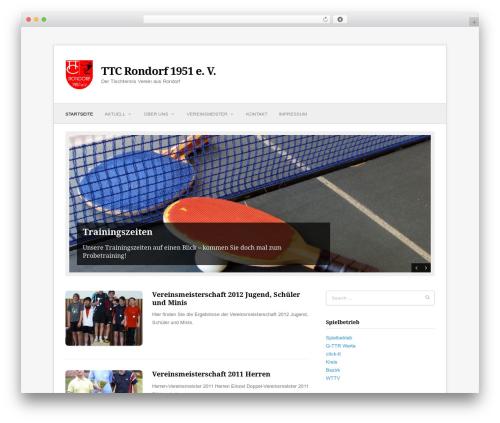 Fresh & Clean WordPress theme design - ttc-rondorf.de