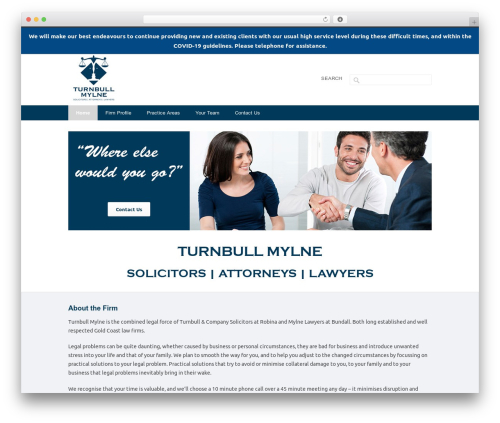 INOVADO WordPress theme - turnbullmylne.com.au