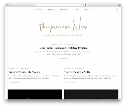 Mauer Essentialist WordPress theme design - thepreciousnow.com