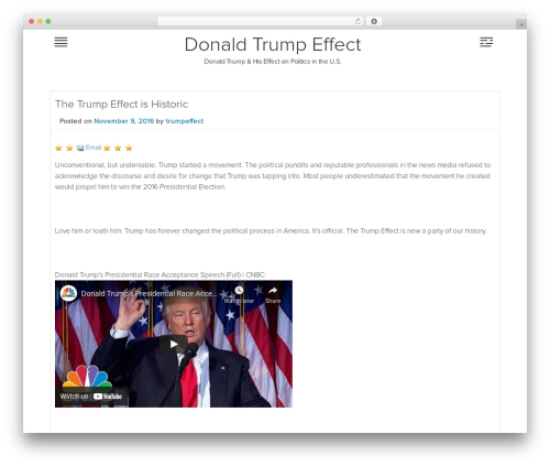 Mobile Friendly free WP theme - trumpeffect.com