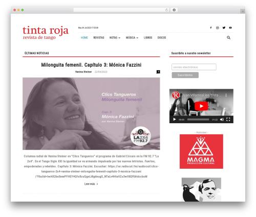 Newspaper newspaper WordPress theme - tintaroja-tango.com.ar