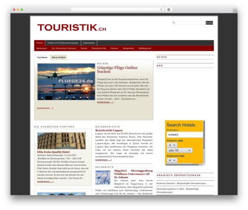 PRiNZ BranfordMagazine PRO WordPress theme - touristik.ch