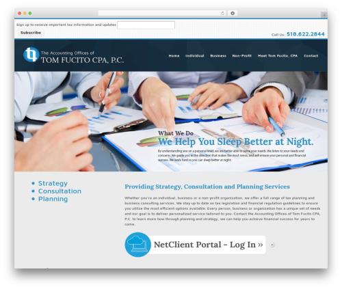Responsive free website theme - tomfucitocpa.com
