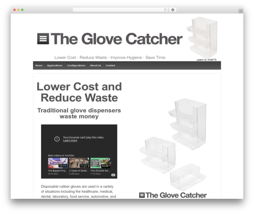 Responsive WordPress theme download - theglovecatcher.com
