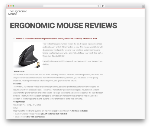 Template WordPress LiteMag by Bluthemes - theergonomicmouse.com