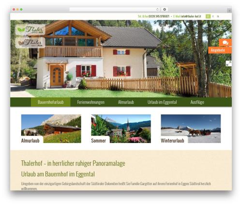 Thalerhof template WordPress - thaler-hof.it