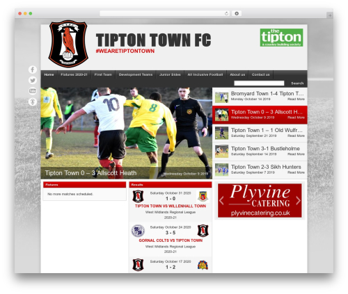 Theme WordPress Football Club - tiptontown.com