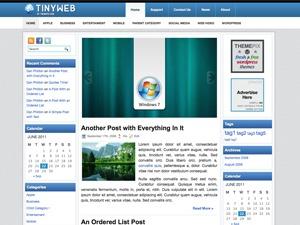 TinyWeb WordPress blog template