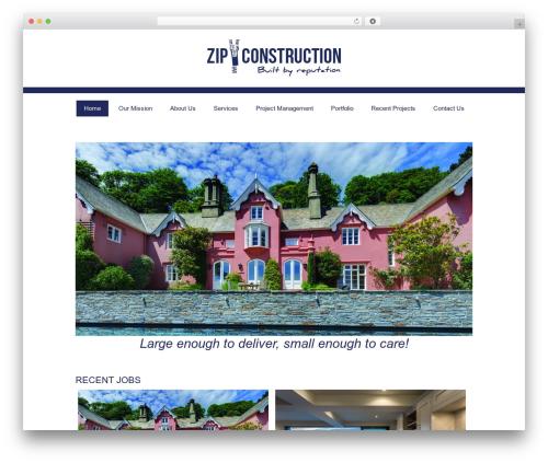 Twenty Twelve free WP theme - tryzip.co.uk