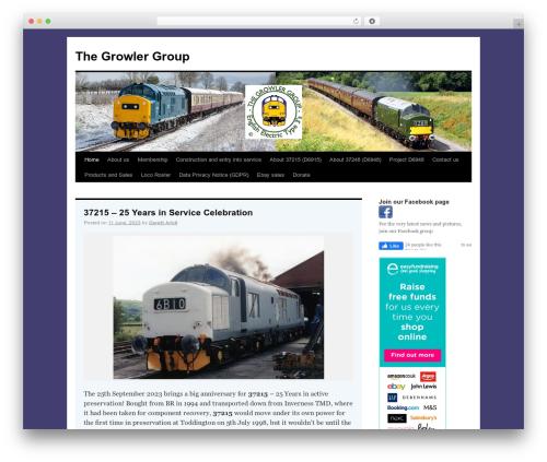 TwentyTen Five WordPress template - thegrowlergroup.org.uk