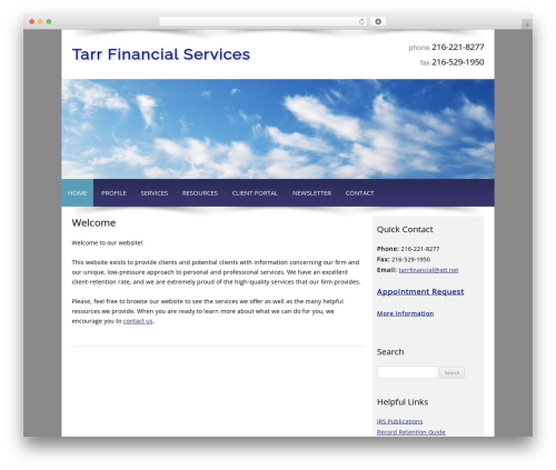 WordPress theme Customized - tarrfinancialservices.com