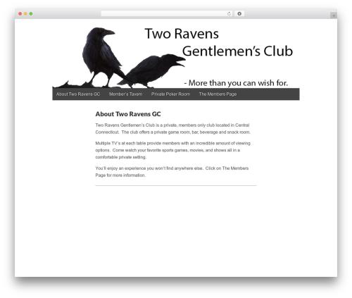 WordPress theme Gridiculous - tworavensgc.com
