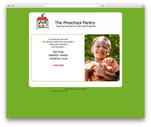 WP theme The HTML5 Reset Theme - thepreschoolpantry.com