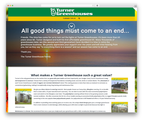 X garden WordPress theme - turnergreenhouses.com
