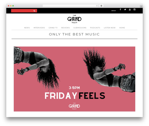 Yorkpress WordPress theme design - thegrindradio.co.za