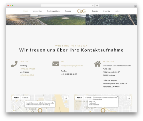 Avada WordPress theme - cronemeyer-grulert.de