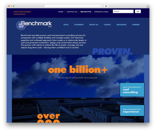 Best WordPress theme Benchmark - benchmark-inc.com