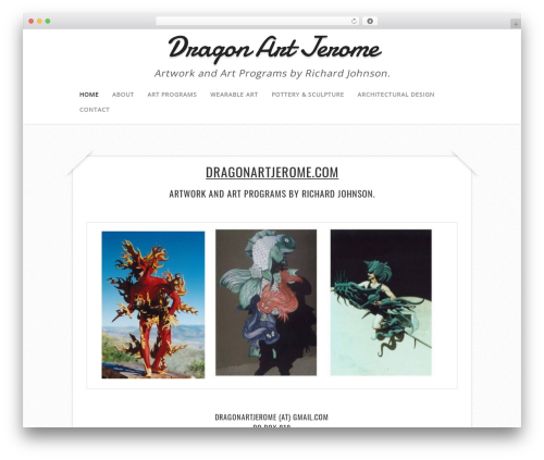Capture theme WordPress - dragonartjerome.com