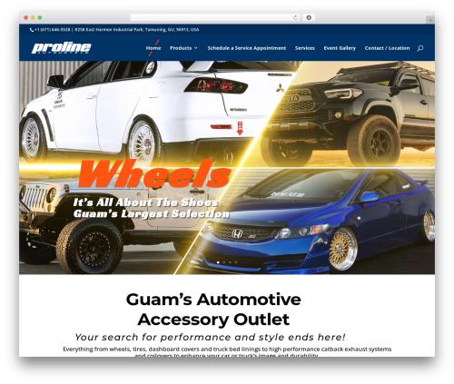 Divi automotive WordPress theme - prolineguam.com