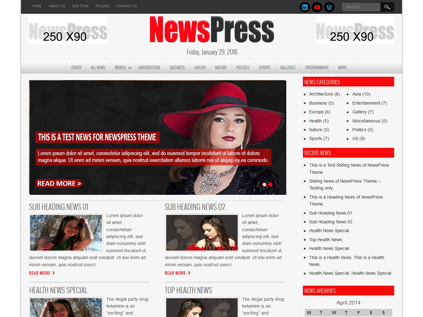 NewsPress Lite WordPress news theme
