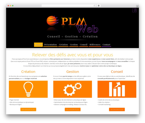 WordPress theme Longevity - plm-web.com