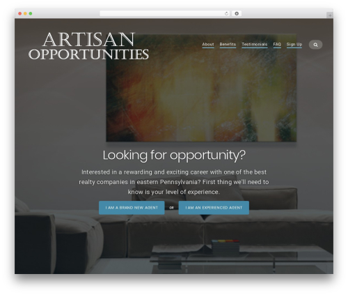 Businessx WordPress template for business - artisanopportunities.com