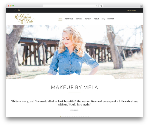 Hair & Beauty theme WordPress - makeupbymela.com