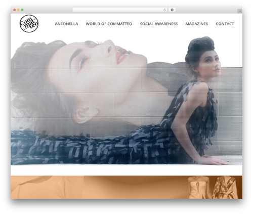 Jupiter fashion WordPress theme - acommatteo.com