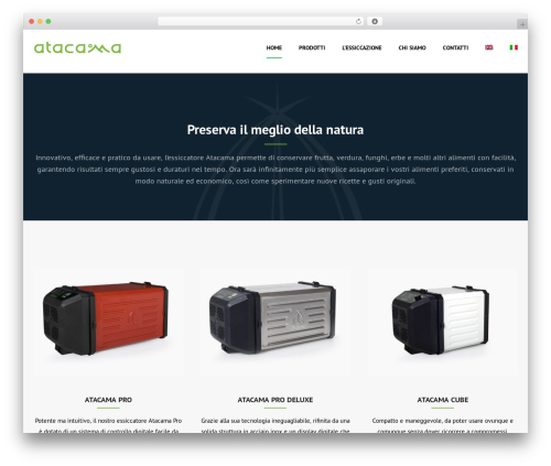 Shopscape WordPress ecommerce template - atacamadehydrator.com