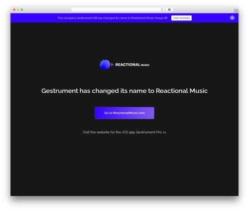 Template WordPress Revolution - gestrument.com
