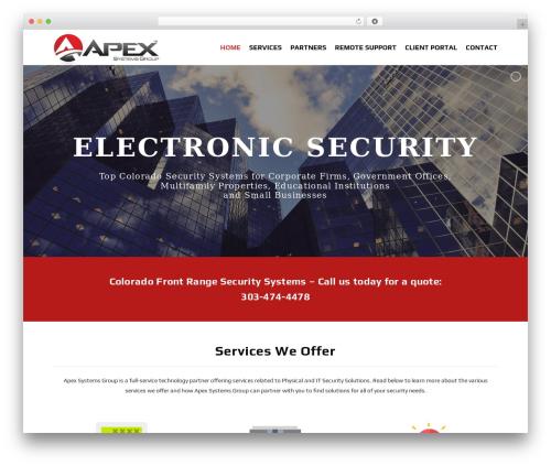 X theme WordPress - apexsystemsgroup.com