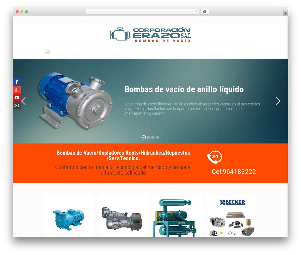 Betheme theme WordPress - bombasdevacioperu.com