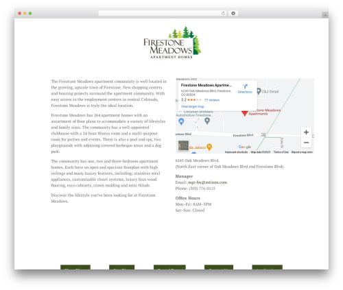 Chester WordPress theme - firestonemeadows.com