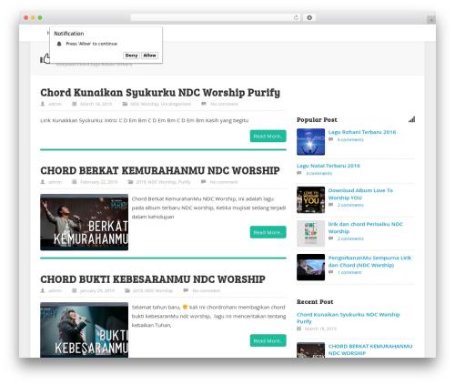 flatsimplebingit WordPress theme - chordrohani.com