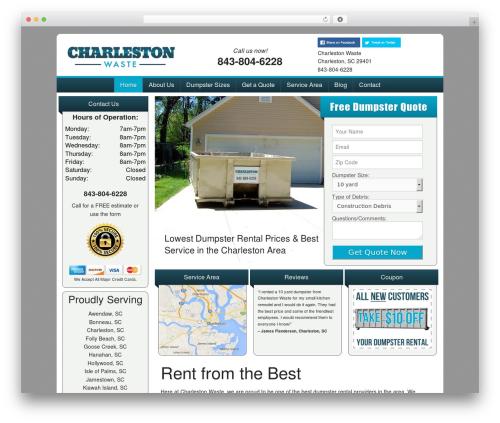 FoundationPress WordPress theme design - charlestonwaste.com