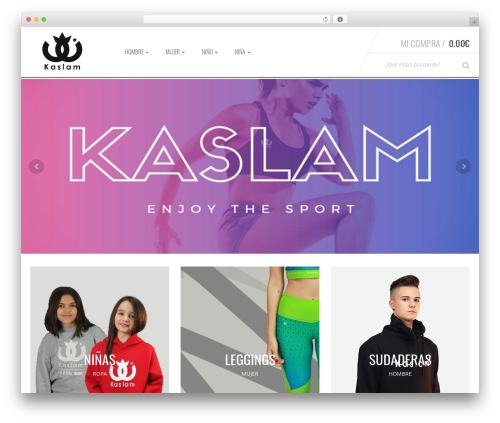 Sportexx WordPress theme - kaslamsport.com