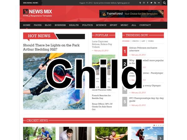 News Mix Child WordPress magazine theme