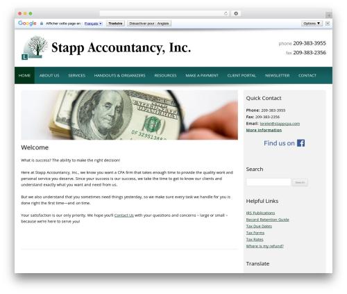 Customized company WordPress theme - stappcpa.com
