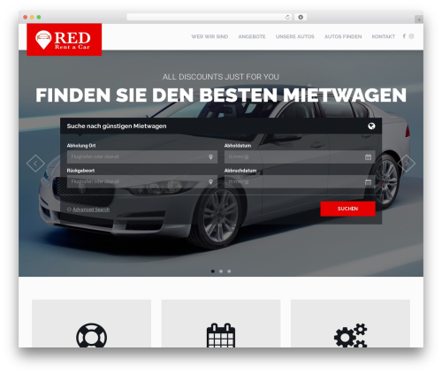 RentIt WordPress page template - redrentacar.com