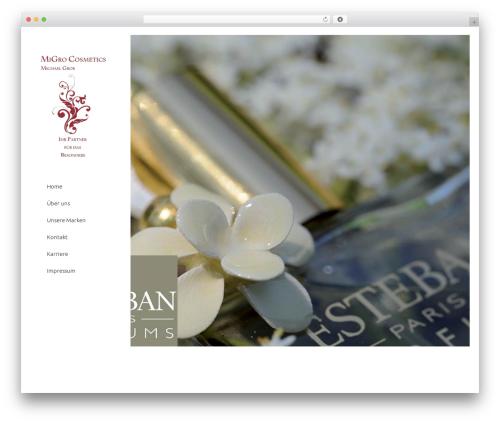 Stockholm best WordPress template - migro-cosmetics.com