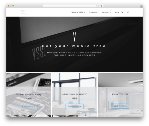 Template WordPress Divi - vssl.com