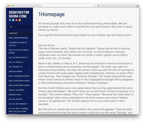WordPress theme Themify Stack - seekfirstwisdom.com