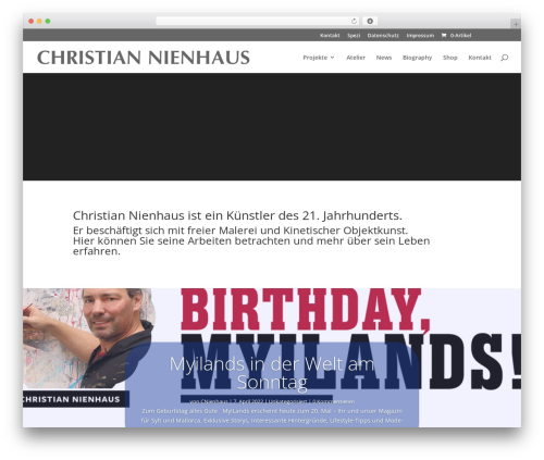 Divi best WordPress template - christian-nienhaus.de