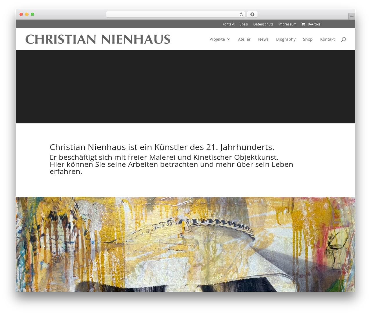 Divi best WordPress template - christian-nienhaus.de